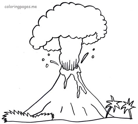 V Is For Volcano Coloring Page by V Is For Volcano Coloring Page Hawaiian Volcano Coloring