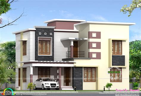 modern box house june 2016 kerala home design and floor plans