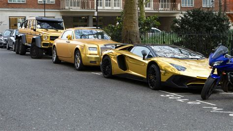 real gold cars arab prince owns fleet of gold cars