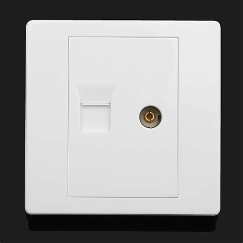 Faceplate Audio Rca Panel Outlet Socket rj45 network tv aerial coaxial wall mount outlet