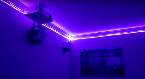 room with lights a thousand led lights for your room hackaday