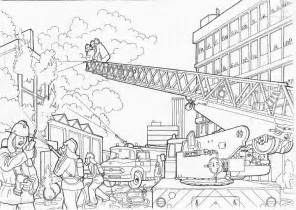 free coloring pages of fire stations