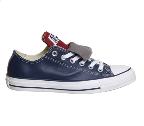 Sepatu Converse Low Maroon Unisex converse all low tongue leather navy maroon grey unisex sports