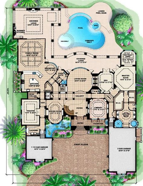 mediterranean mansion floor plans tuscany ii mediterranean house plan alp 08cc chatham