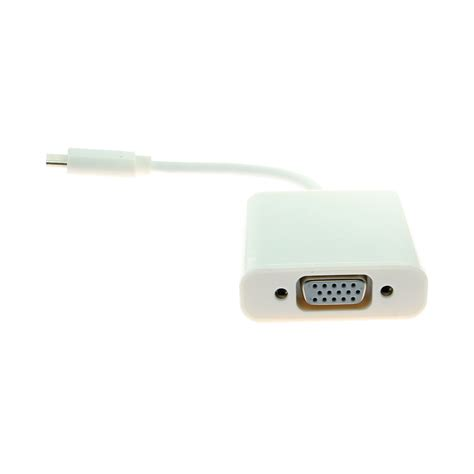 Connector Usb To Vga usb c to vga adapter 6 inches white coolgear