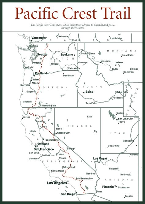 map of oregon pacific crest trail map of pacific crest national scenic trail mammoth city