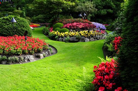 nature flowers garden landscape wallpapers hd desktop