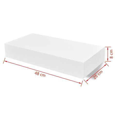 mensole per dvd mensola per pareti con cassetto bianco mdf per libri dvd