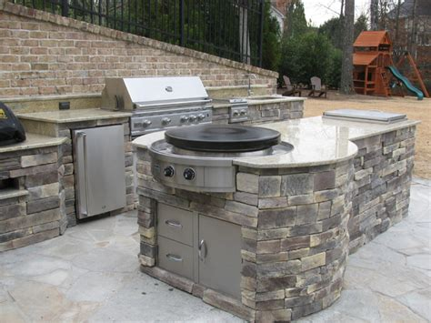 outside kitchen appliances outdoor kitchen installations with evo circular cooktop