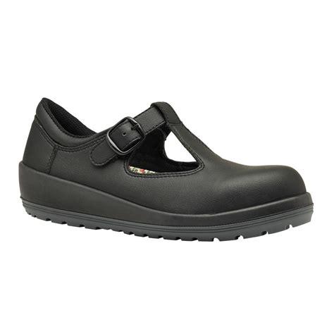 black work shoes parade batina womens buckle fastened black microfiber