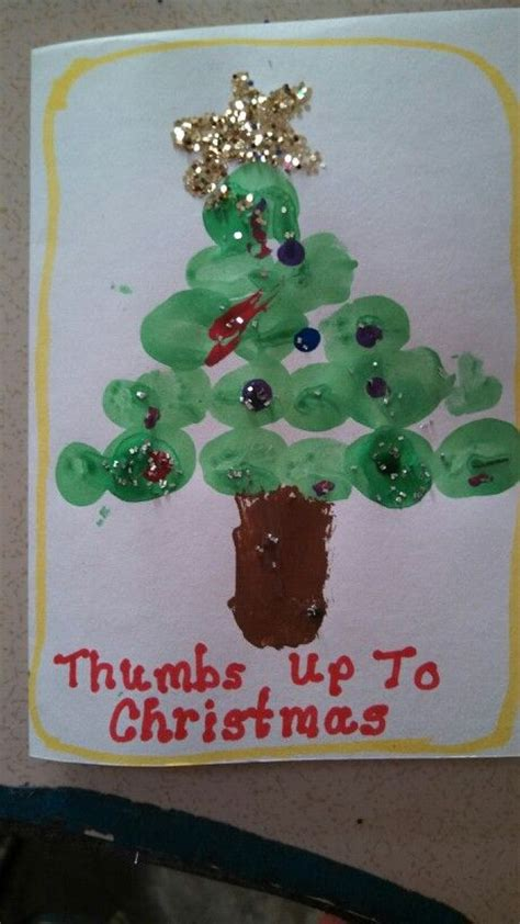 preschool christmas card for parents school crafts