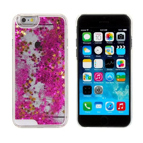 3d Ipgone 5 falling liquid glitter 3d bling cover for