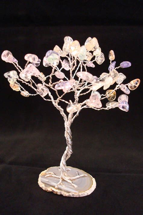 Centerpiece Gemstone Tree Wire Tree Sculpture Silver Wire Tree Centerpiece