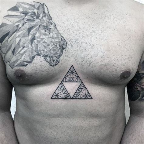 chest zelda tattoo 60 triforce tattoo designs for men legend of zelda ink ideas