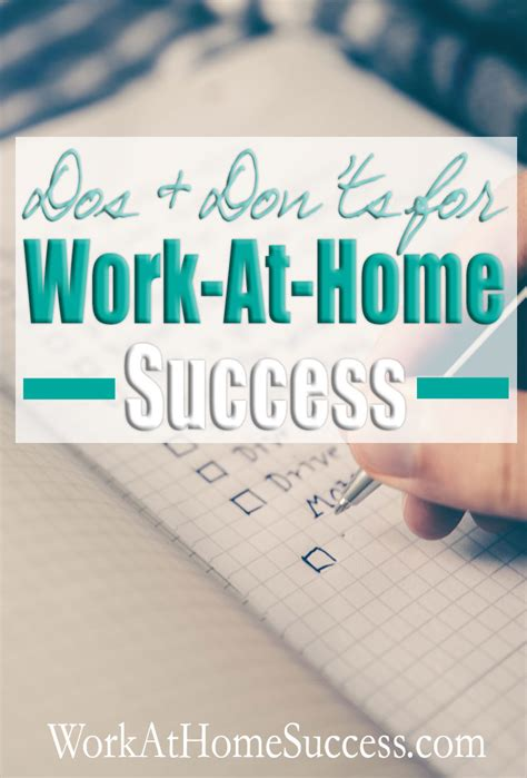5 Dos And Donts Of Working From Home by Dos And Don Ts For Work At Home Success Work At Home Success