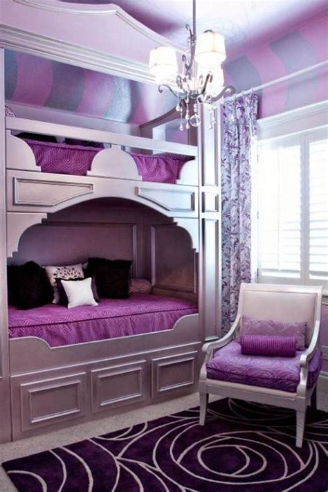 Girls Purple Bedroom Decorating Ideas Socialcafe Magazine Purple Design Bedroom