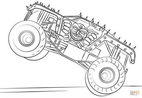 Monster Jam Coloring Pages Printables Snap Cara Org Jam Coloring Pages
