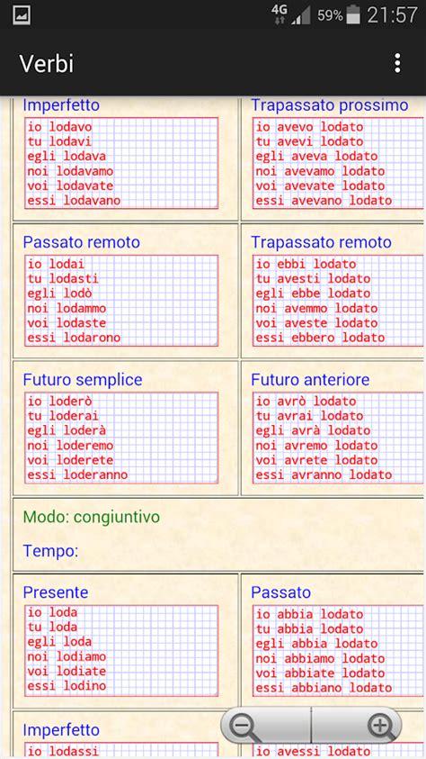 tavole dei verbi italiani verbi italiani app android su play
