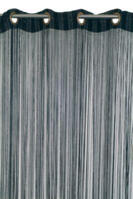 Rideaux Fils Castorama by Rideau De Fils Teze 110 X 240 Cm Noir Argent Castorama