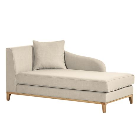 sofa recamiere links recamiere blomma webstoff beige home24
