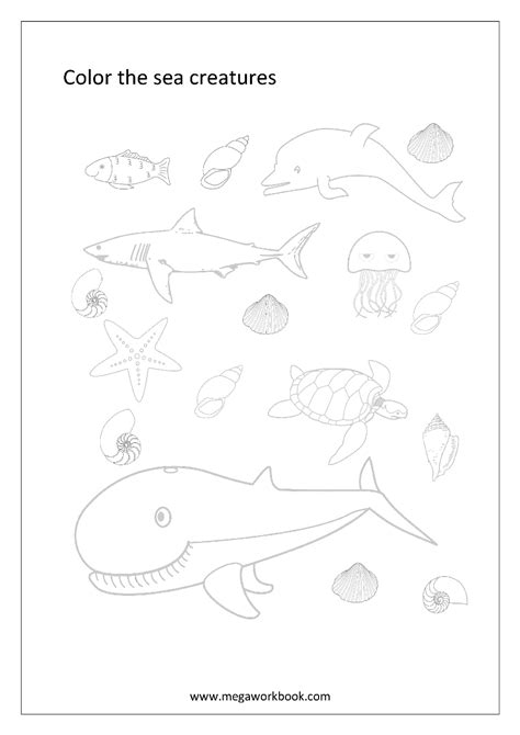 Colouring Pages Of Water Animals Image Water Animals Water Animals Coloring Pages