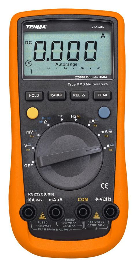 Multimeter Manual tenma manual auto ranging digital multimeter for ac dc voltage ebay