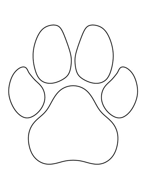 Printable String Templates - paw print pattern use the printable outline for