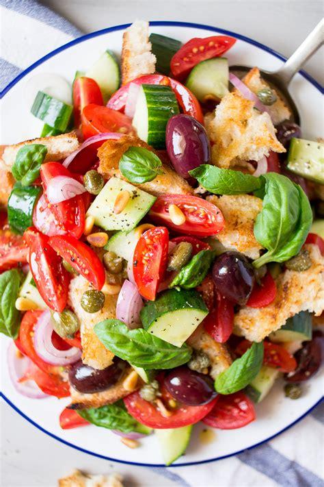 Summer Kitchen Salads summer panzanella salad lazy cat kitchen