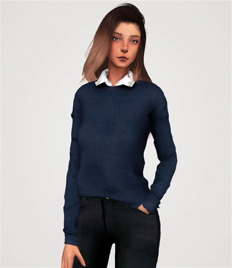 pearl collar sweater p  elliesimple sims  updates