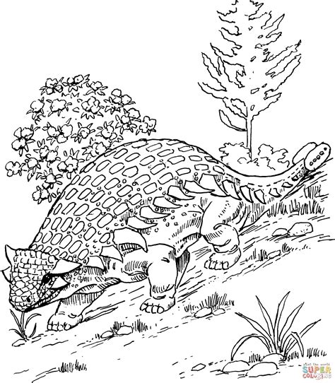 euoplocephalus coloring page ankylosaurus coloring page free printable coloring pages