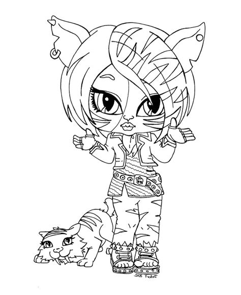 Chibi Monster High Coloring Pages Download And Print For Free | chibi monster high coloring pages download and print for free
