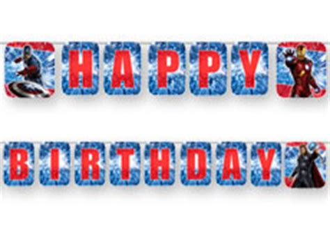 Bunting Flag Happy Birthday Avenger By Queenballoon 4funparties plastic birthday banner