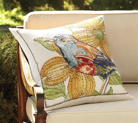 Pottery Barn Pillows On Sale by Embroidered Bird Indoor Outdoor Pillow