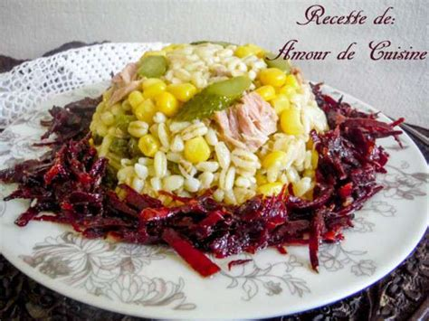 recettes de d 233 fi salades de amour de cuisine chez soulef