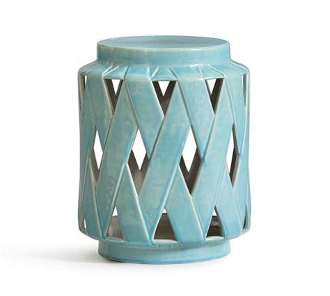 ceramic accent table lattice ceramic accent table pottery barn