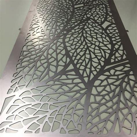 leaf pattern metal screen leaf design laser cut metal in mild steel jpg 500 215 500