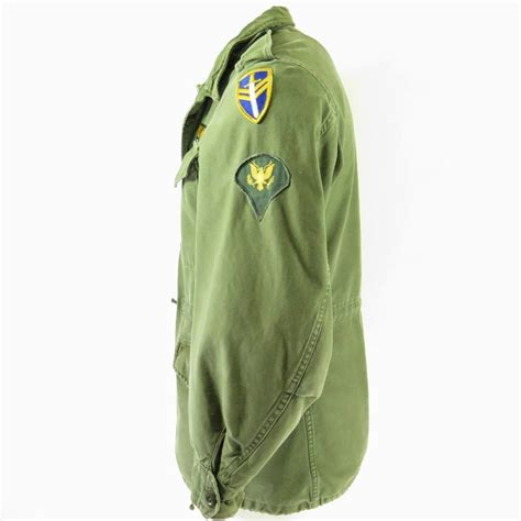Jaket Parka Pria Hrcn Unknown Army Green H 2027 Bahan Baby Canvas vintage 50s m 1951 field jacket mens s patches army