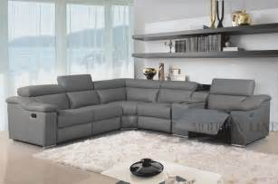 Gray Sectional Sofa With Recliner Furniture Design Ideas Stunning Grey Leather Furniture