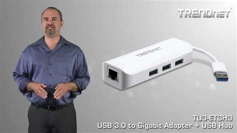 Trendnet Tu3 Etgh3 Usb 3 0 To Gigabit Adapter Usb Hub 29836 Wa trendnet adaptador usb 3 0 a gigabit y hub usb tu3 etgh3