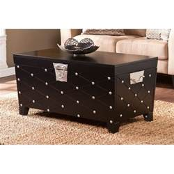 black trunk coffee table southern enterprises nailhead trunk coffee table in black