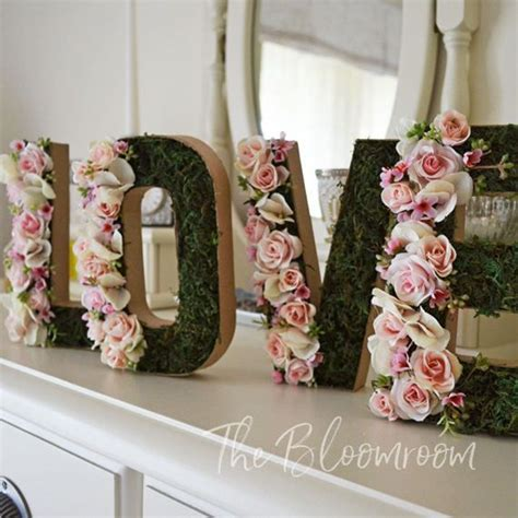Bridal Flower Decoration by The 25 Best Flower Letters Ideas On