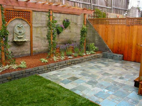how to design backyard brick wall garden designs decorating ideas design