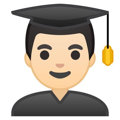 man student light skin tone icon noto emoji people