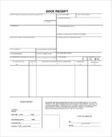 dock receipt template free printable receipt 10 exles in word pdf