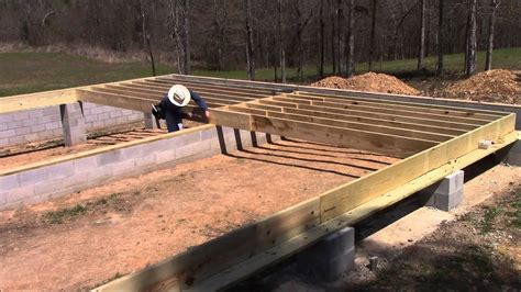 10 x 10 floor joist building my own home episode 18 laying out the floor