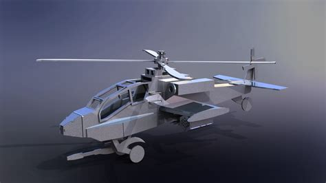 Helicopter Metal Model apache helicopter ah 64 sheet metal puzzle 3d