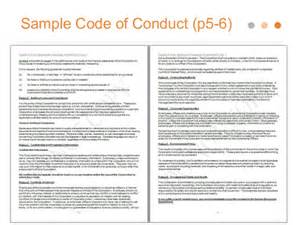Ethics Template by Doc 7681024 Code Of Conduct Exle Code Of Conduct