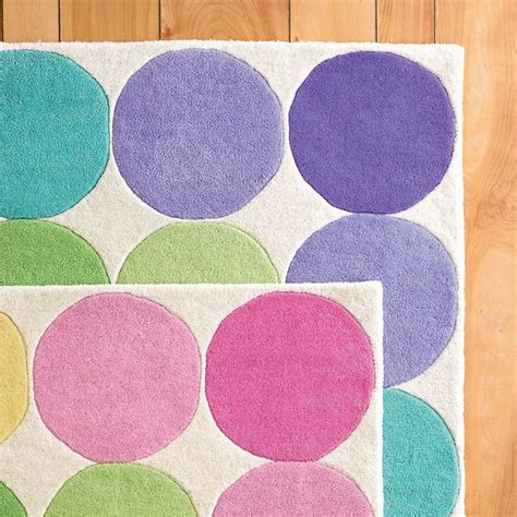 kid rugs big dots rug pastel contemporary rugs by the