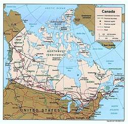detailed political map of canada with administrative