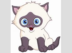 Siamese kitten stock vector. Illustration of humor, gray ... Free Clipart Of Siamese Cats